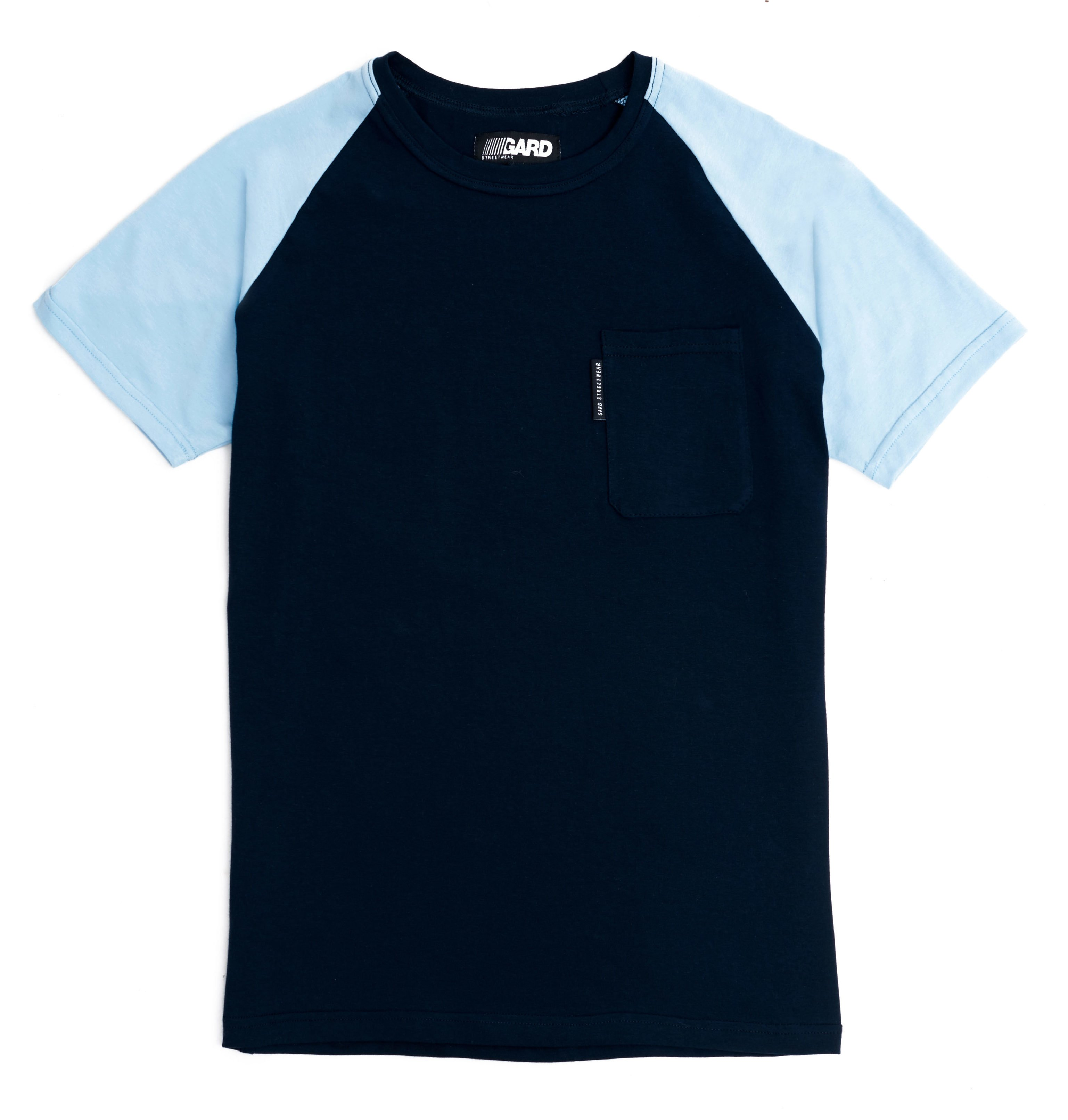 T-SHIRT WITH POCKET 3/17 dark blue-light blue