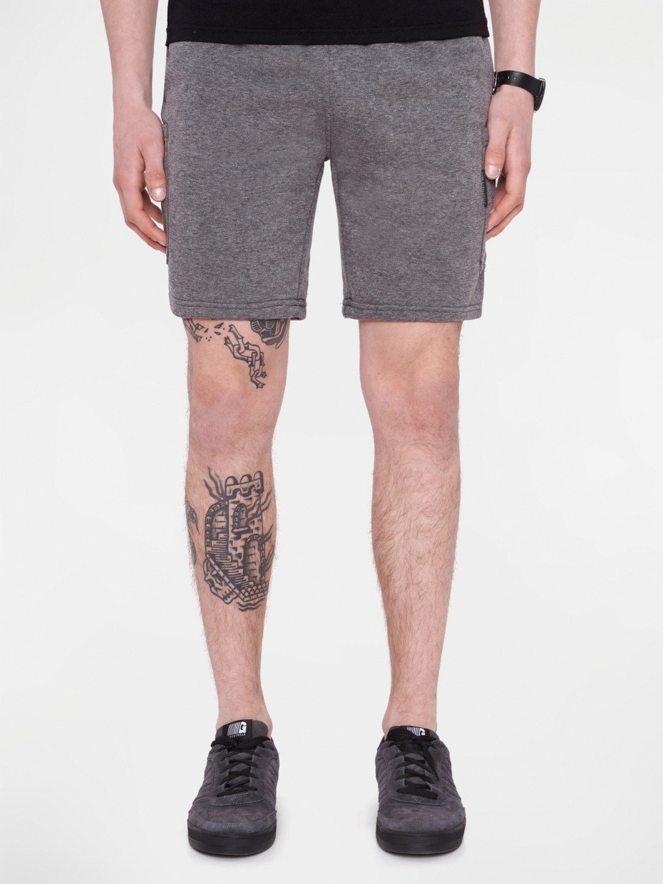 Шорты CARGO СOTTON SHORTS-2 dark gray melange 2/18